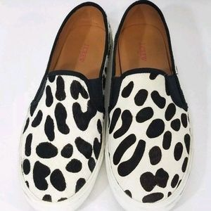 J. Crew Shoes - J Crew Calf Hair Cow Leopard Print Slip On Loafers